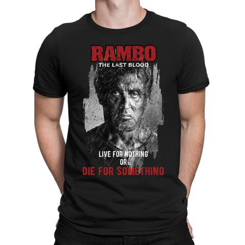 Live for nothing Rambo T-Shirt-Gildan-Daataadirect.co.uk