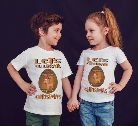 Christmas Celebrate With Funny Cartoon T-Shirt-Gildan-Daataadirect.co.uk