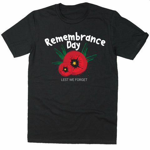 Remembrance Day Poppy Soldier T-shirt-Gildan-Daataadirect.co.uk