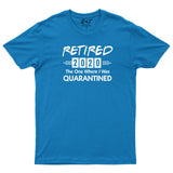 Retired 2020 The One Where I Was Quarantined Mens T-Shirt-Gildan-Daataadirect.co.uk