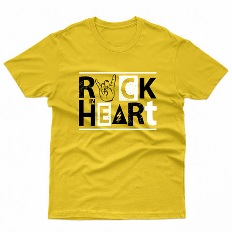 Rock Heart Hand Musical Cool T-Shirt-Gildan-Daataadirect.co.uk