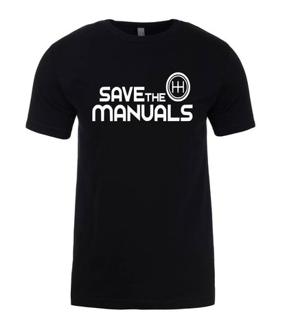 SAVE THE MANUALS Mens T-Shirt-Gildan-Daataadirect.co.uk