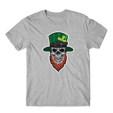 St Patricks Day Skull T-Shirt-Gildan-Daataadirect.co.uk