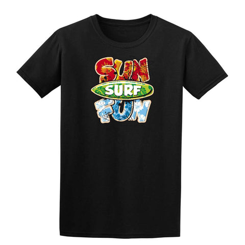 SURF SUN FUN Mens T-Shirt-Gildan-Daataadirect.co.uk