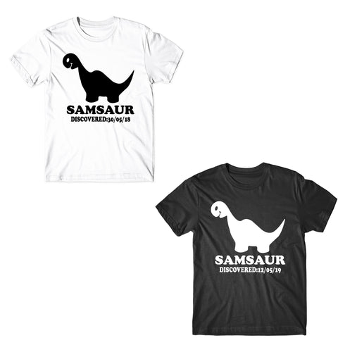 Personalised Kids Samsaur T-Shirt - Great Birthday Gift T-Shirts-Gildan-Daataadirect.co.uk