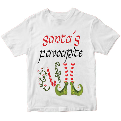 Christmas Santas Favourite Elf T-Shirt-Gildan-Daataadirect.co.uk