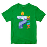 7th Birthday Kids T-shirt Age Seven Years Boys Girls Birthday T-Shirt-Gildan-Daataadirect.co.uk
