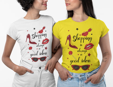 Shopping Is Always A Good Idea Women T-Shirt-Gildan-Daataadirect.co.uk
