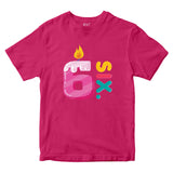 6th Birthday Kids T-shirt Age Six Years Boys Girls Birthday T-Shirt-Gildan-Daataadirect.co.uk