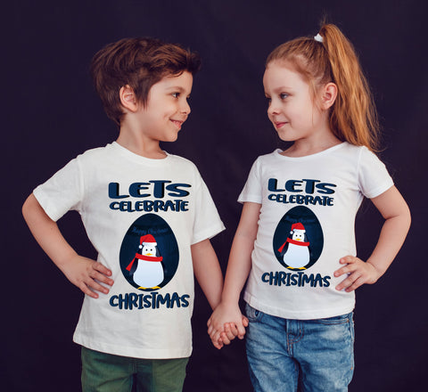 Happy Marry Christmas Lets Celebrate Christmas T-Shirt-Gildan-Daataadirect.co.uk