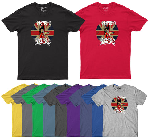 Norton Motorcycles Mens T-Shirt-Gildan-Daataadirect.co.uk