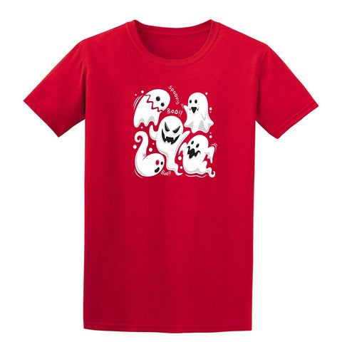 Spooky Boo Boo Halloween Mens T-Shirt Red 3XL