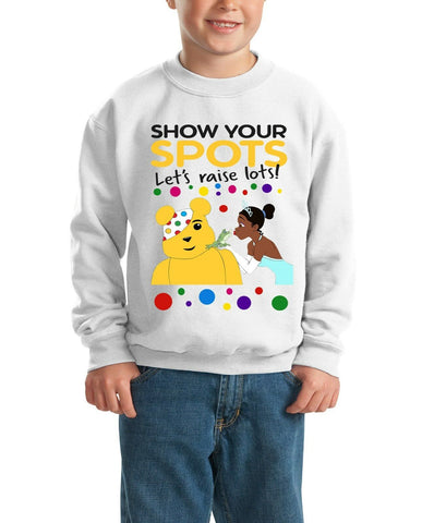 Princess Tiana Pudsey Bear - Kids SweatShirt-Gildan-Daataadirect.co.uk