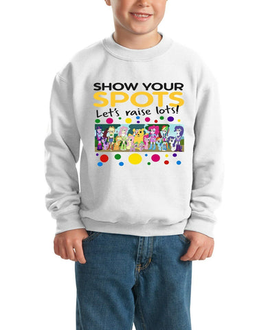 Equestriaguy Pudsey Bear Spotty Day - Kids SweatShirt-Gildan-Daataadirect.co.uk