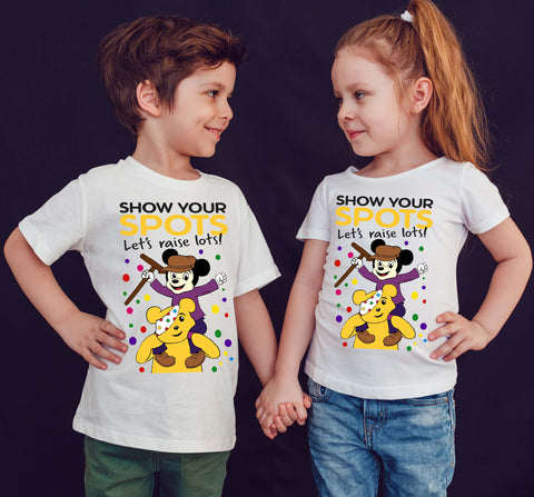 Micky Mouse Spotty Day Cosmic Heroes Mickey Mouse Kids T-Shirt-Gildan-Daataadirect.co.uk