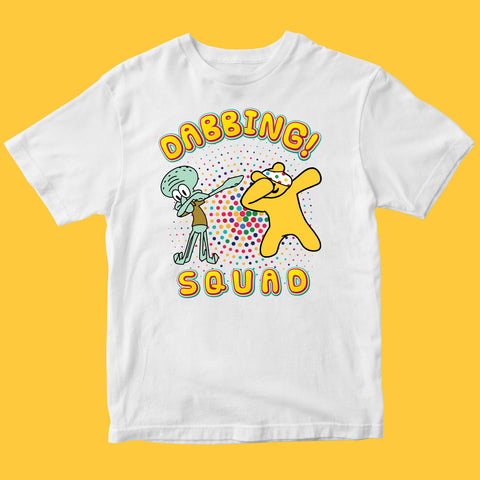 Dabbing Squidward Pudsey Bear Kids T-shirt-Gildan-Daataadirect.co.uk