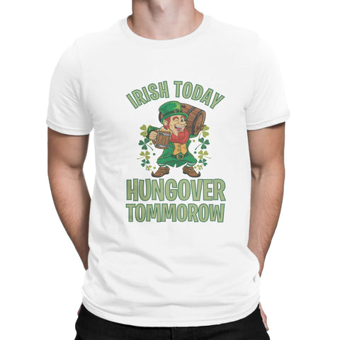 St Patrick Day Leprechaun Irish Today Shamrock Mens Womens Unisex T Shirts-Gildan-Daataadirect.co.uk