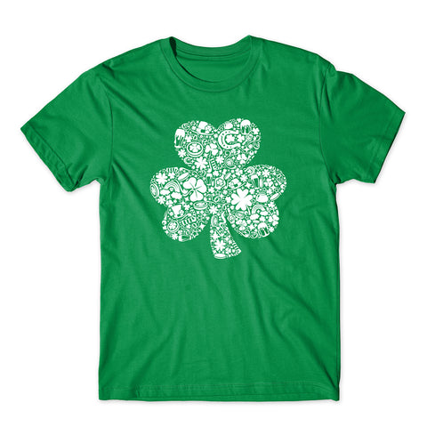 St Patrick Day 2020 Card Of White Objects Funny T-Shirt-Gildan-Daataadirect.co.uk