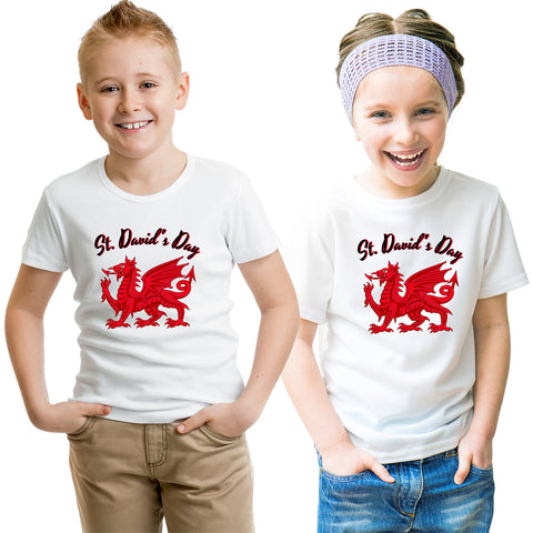 Wales Day Dragon Flag St. David's Day T-Shirt-Gildan-Daataadirect.co.uk