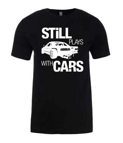 Still Plays With Cars Mens T-Shirt-Gildan-Daataadirect.co.uk