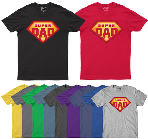 Fathers Day T-shirt Super Dad Best Dad Ever T-Shirt-Gildan-Daataadirect.co.uk