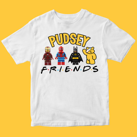 Charity Pudsey Bear Kids T-shirt-Gildan-Daataadirect.co.uk