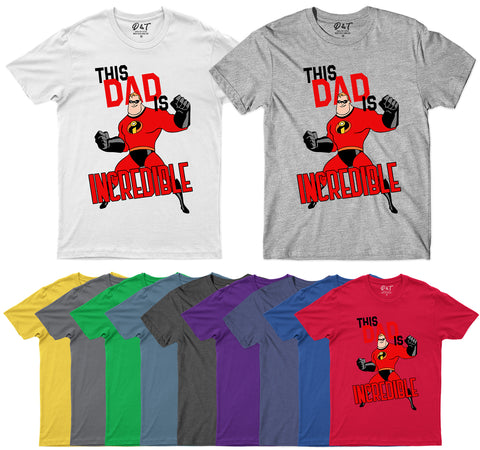 This Dad Is Incredible Funny Fathers Day 2020 Mens T-Shirt-Gildan-Daataadirect.co.uk