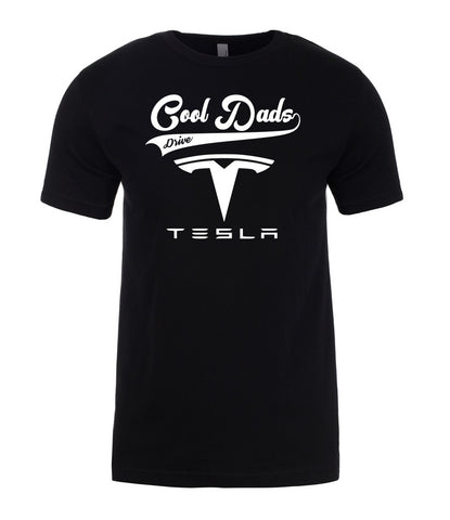 Tesla Cool Dads Drive Fathers Day Best Gift Present For Dad Mens T-Shirt-Gildan-Daataadirect.co.uk