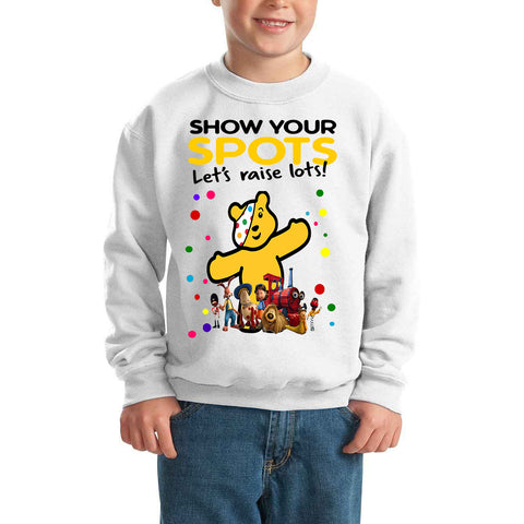 The Magic Roundabout Pudsey Bear Spotty Day - Kids SweatShirt-Gildan-Daataadirect.co.uk
