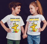 The Simpsons Spotty Day Children In Need Kids T-Shirt-Gildan-Daataadirect.co.uk