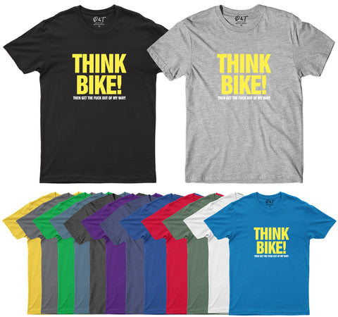 Think Bike Motorcycle Biker T Shirt Funny Birthday T-Shirt-Gildan-Daataadirect.co.uk