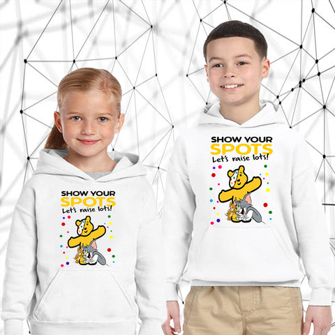 Tom and Jerry Pudsey Bear - Kids Hoodies-Gildan-Daataadirect.co.uk