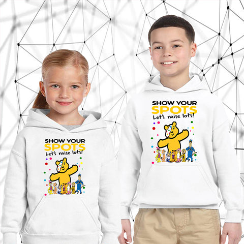 Top Cat Pudsey Bear - Kids Hoodies-Gildan-Daataadirect.co.uk