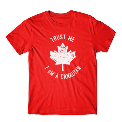 Trust me I am Canadian Happy Canada Day Men T-Shirt-Gildan-Daataadirect.co.uk