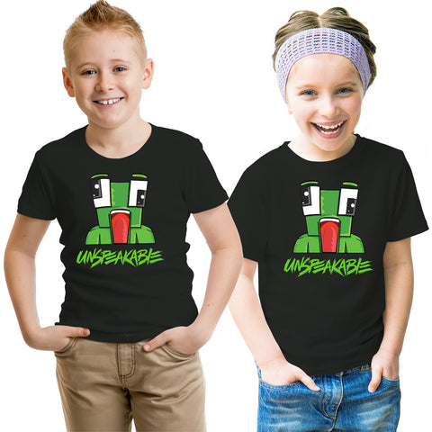 Funny Green Frog Gaming Kids T-Shirt-Gildan-Daataadirect.co.uk