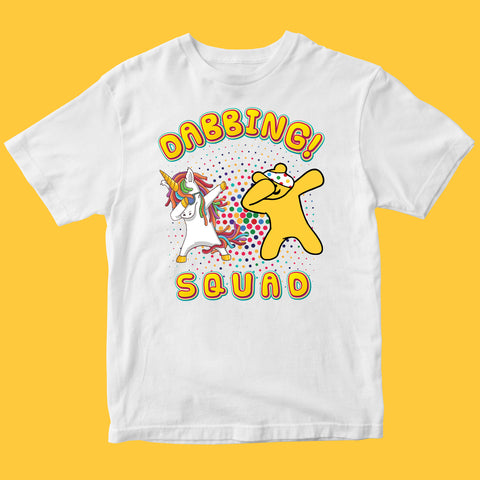 Unicorn Dab Pudsey Bear Kids T-shirt-Gildan-Daataadirect.co.uk