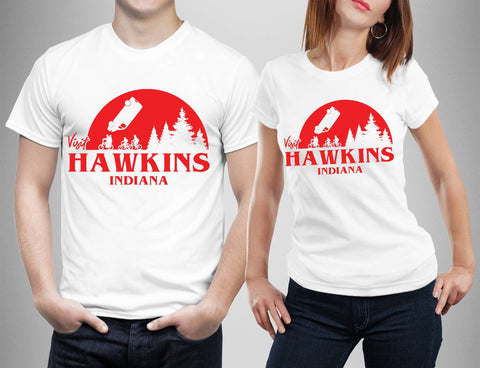 Visit Hawkins Indiana T Shirts-Gildan-Daataadirect.co.uk
