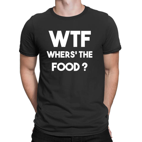 WTF Where The Food Mens T Shirts-Gildan-Daataadirect.co.uk
