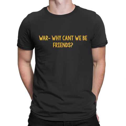 War Why Cant We Be Friends Hobbs And Shaw T Shirt Fast Racing 2019 Unisex Mens T-Shirt-Gildan-Daataadirect.co.uk