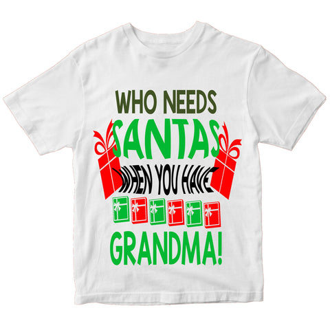 Christmas Who Need Santa T-Shirt-Gildan-Daataadirect.co.uk