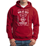 World Best Dad Fathers Day Birthday Gift Dad Mens Hoodies Antique Cherry Red 2XL