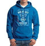 World Best Dad Fathers Day Birthday Gift Dad Mens Hoodies Antique Sapphire 2XL
