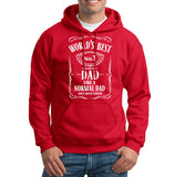 World Best Dad Fathers Day Birthday Gift Dad Mens Hoodies Red 5XL
