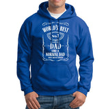 World Best Dad Fathers Day Birthday Gift Dad Mens Hoodies Royal Blue 5XL