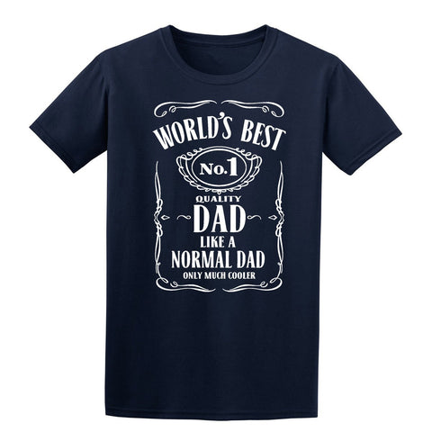 World Best Dad Fathers Day Birthday Gift Dad Mens T-Shirt Navy Blue 3XL