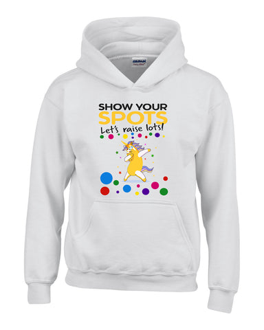 Yellow Unicorn Dabbing Flossing Pudsey Bear - Kids Hoodies-Gildan-Daataadirect.co.uk