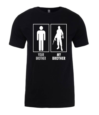 Your brother My brother Military Brother Gift Mens T-Shirt-Gildan-Daataadirect.co.uk