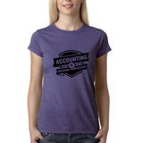 Accounting is accural profession Womens T Shirts Black-Gildan-Daataadirect.co.uk