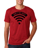 "aint no wifi Black Mens T Shirt-T Shirts-Gildan-Cardinal-S To Fit Chest 36-38"" (91-96cm)-Daataadirect"