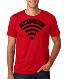 "aint no wifi Black Mens T Shirt-T Shirts-Gildan-Cherry Red-S To Fit Chest 36-38"" (91-96cm)-Daataadirect"